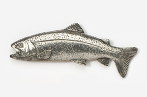 #112 - Rainbow Trout Antiqued Pewter Pin