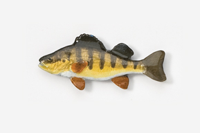 #118P - Yellow Perch Hand Painted Pin