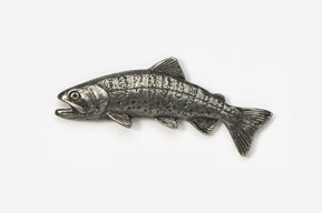 #132 - Japanese Yamame Trout Antiqued Pewter Pin
