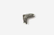 #M123 - Jumping Rainbow Trout Pewter Mini-Pin