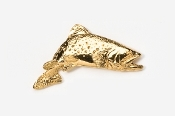 #125G - Jumping Brook Trout 24K Gold Plated Pin