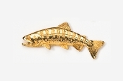 #132G - Japanese Yamame Trout 24K Gold Plated Pin