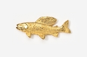 #127G - Grayling 24K Gold Plated Pin