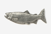 #106 - Female Coho / Silver Salmon Antiqued Pewter Pin