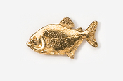 #110G - Piranha 24K Gold Plated Pin