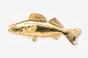 #119G - Walleye 24K Gold Plated Pin