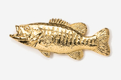 #121G - Smallmouth Bass 24K Gold Plated Pin