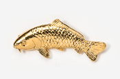 #133AG - Koi 24K Gold Plated Pin