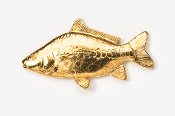 #133G - Mirror Carp 24K Gold Plated Pin