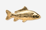 #134G - Carp 24K Gold Plated Pin