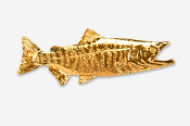 #137G - Chum / Dog Salmon 24K Gold Plated Pin