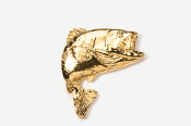 #141G - Jumping Largemouth Bass 24K Gold Plated Pin