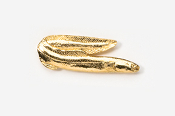 #153G - Eel 24K Gold Plated Pin