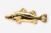 #166G - Barramundi 24K Gold Plated Pin