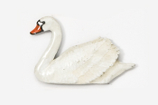 #316P - Swan Hand Painted Pin