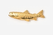 #128G - Japanese Iwana 24K Gold Plated Pin