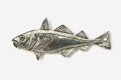 #221A - Haddock Antiqued Pewter Pin