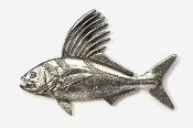 #231 - Roosterfish Antiqued Pewter Pin