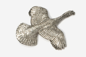 #308 - Flying Turkey Antiqued Pewter Pin
