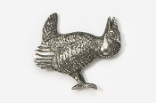 #325 - Prairie Chicken Antiqued Pewter Pin