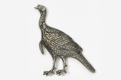 #327 - Alert Turkey Antiqued Pewter Pin