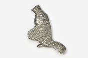 #328 - Drumming Grouse Antiqued Pewter Pin