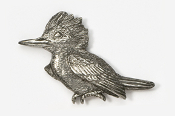 #340 - Kingfisher Antiqued Pewter Pin
