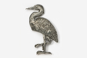 #345 - Great Blue Heron Antiqued Pewter Pin