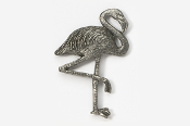 #346 - Flamingo Antiqued Pewter Pin