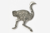 #347 - Ostrich Antiqued Pewter Pin