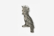 #355 - Cockatoo Antiqued Pewter Pin