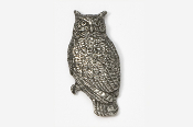 #360 - Great Horned Owl Antiqued Pewter Pin