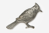 #372 - Blue Jay Antiqued Pewter Pin