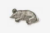 #419E - Mole Antiqued Pewter Pin