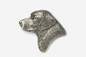 #450B - Labrador Retriever Head Antiqued Pewter Pin