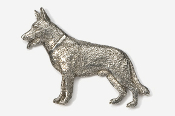 #452 - German Shepherd Antiqued Pewter Pin