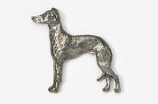 #453E - Italian Greyhound Antiqued Pewter Pin