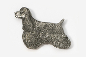 #455A - Show Clip Cocker Spaniel Antiqued Pewter Pin