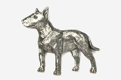 #460C - Bull Terrier Antiqued Pewter Pin