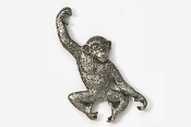 #489A - Monkey Antiqued Pewter Pin