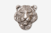 #495A - Tiger Head Antiqued Pewter Pin