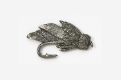 #512 - Muddler Minnow Antiqued Pewter Pin