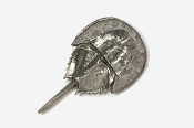 #533 - Horseshoe Crab Antiqued Pewter Pin