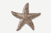 #539C - Large Starfish Antiqued Pewter Pin