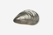 #543 - Mussel Antiqued Pewter Pin