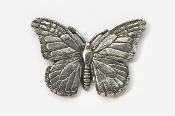 #572 - Monarch Butterfly Antiqued Pewter Pin