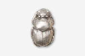 #580 - Scarab / Dung Beetle Antiqued Pewter Pin