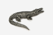#600 - Alligator Antiqued Pewter Pin