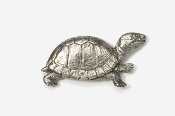 #608 - Box Turtle Antiqued Pewter Pin