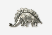 #621 - Stegosaurus Antiqued Pewter Pin